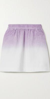 Isola ombré cotton-terry mini skirt