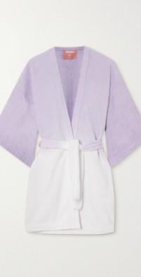 La Toga ombré cotton-terry robe