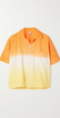 Ombré cotton-terry shirt