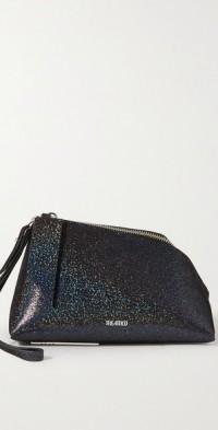 Saturday glittered leather clutch