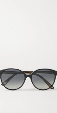 + Oliver Peoples Brooktree round-frame acetate sunglasses