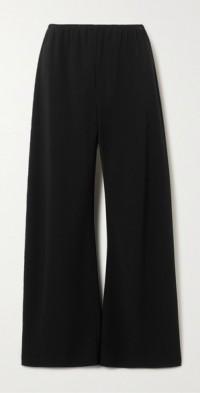 Gala crepe wide-leg pants