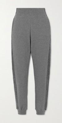 Amie paneled organic cotton-jersey track pants