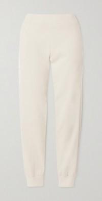 Esme satin-trimmed organic cotton-jersey track pants