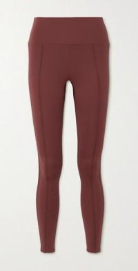 Nica satin-trimmed stretch leggings