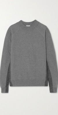 Rumer paneled organic cotton-jersey sweatshirt