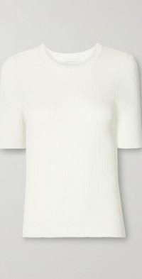 Tropicana ribbed-knit T-shirt