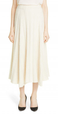 Women's Adam Lippes Cashmere & Silk Cable Knit Circle Skirt