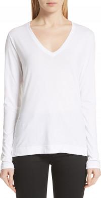 Women's Adam Lippes Long Sleeve Pima Cotton T-Shirt