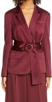 Women's Adeam Belted Satin Jacket