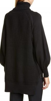 Women's Adeam Side Zip Bishop Sleeve Sweater