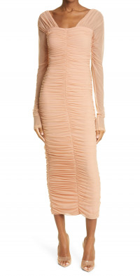 A.L.C. Jackie Long Sleeve Ruched Dress