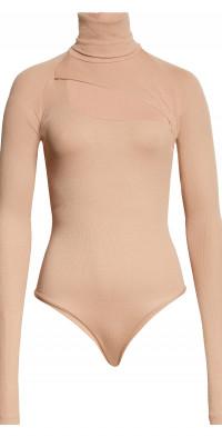 ALIX NYC Carder Turtleneck Cutout Rib Bodysuit