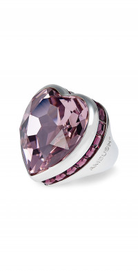 Ambush Big Heart Sterling Silver Ring