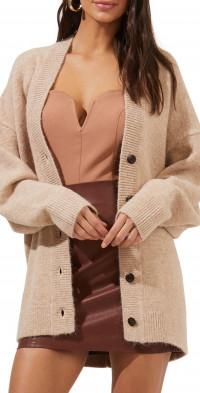 ASTR the Label Alpine Oversize Cardigan