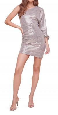 ASTR the Label Chantal Sequin One-Shoulder Minidress