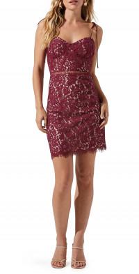 ASTR the Label Corset Lace Sleeveless Minidress