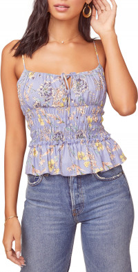 ASTR the Label Fiona Floral Smocked Top