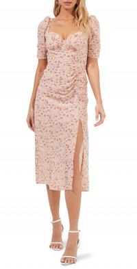 ASTR the Label Floral Milkmaid Midi Dress