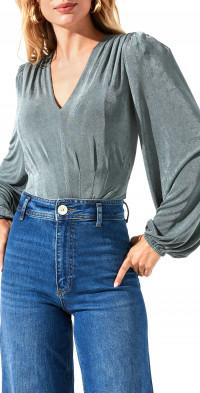 ASTR the Label Long Sleeve V-Neck Bodysuit