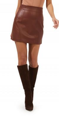 ASTR the Label Meika Faux Leather Miniskirt
