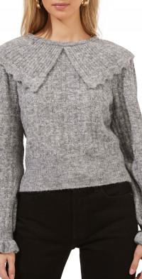 ASTR the Label Safford Peter Pan Collar Sweater