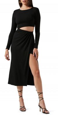 ASTR the Label Westwood Long Sleeve Cutout Dress