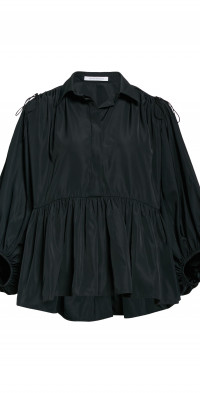 Cecilie Bahnsen Josephine Shoulder Cutout Peplum Recycled Polyester Top