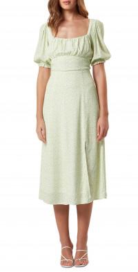 Charlie Holiday Mia Print Midi Dress