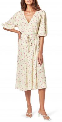 Women's Charlie Holiday Presley Floral Midi Wrap Dress
