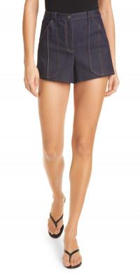 Cinq a Sept Aileen High Waist Topstitch Shorts