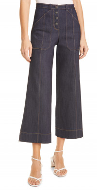 Cinq a Sept Benji Crop Flare Denim Pants