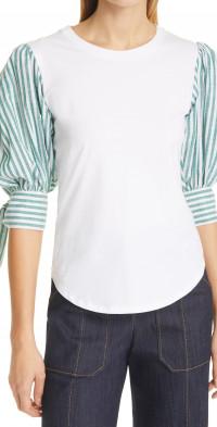 Cinq a Sept Carlie Tie Sleeve Top