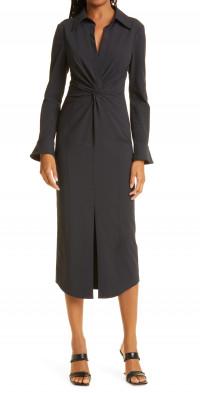 Cinq a Sept Mckenna Long Sleeve Midi Dress