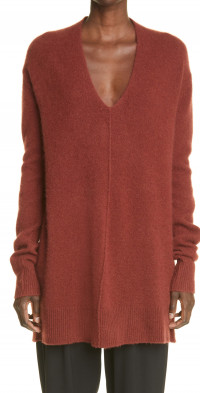 Women's Co Seamed Cashmere Tunic Sweater