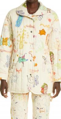 Women's Collina Strada Doodle Print Organic Cotton Shelter Jacket