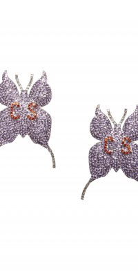 Women's Collina Strada Set Of 2 Crystal Embellished Butterfly Shoe Clips