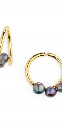 Cult Gaia Leonie Genuine Freshwater Pearl Hoop Earrings in Iridescent at Nordstrom