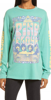 Daydreamer Pink Floyd Oversize Long Sleeve Graphic Tee