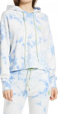 Daydreamer Sunny People Tie Dye Crop Hoodie