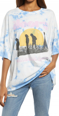 Daydreamer Women's The Doors Waiting for the Sun Graphic Tee in Periwinkle Cloud at Nordstrom