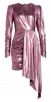 Elliatt Avalee Metallic Long Sleeve Cocktail Dress