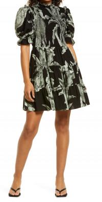 Elliatt Puff Sleeve Minidress