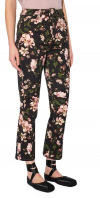 Erdem Vina Margot Posy Print Belted Flare Jeans