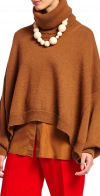 Women's Essentiel Antwerp Turtleneck Poncho Sweater