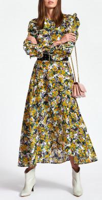 Women's Essentiel Antwerp Zilby Floral Long Sleeve Ruffle Dress