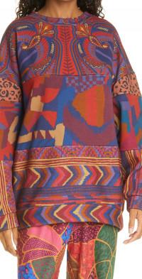 FARM Rio Mix Print Tunic Sweatshirt
