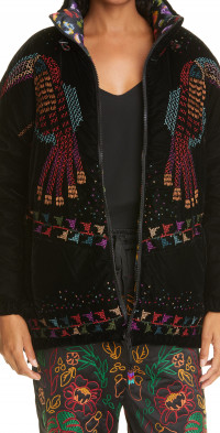 FARM Rio Reversible Embroidered Puffer Jacket
