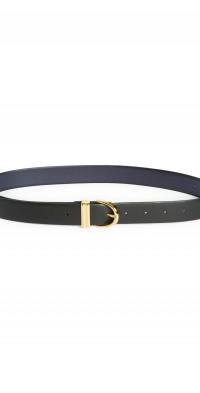 Khaite Bambi Leather Belt in Black at Nordstrom