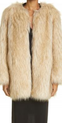 Khaite Remy Faux Fur Coat